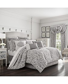 J Queen Pierce Charcoal King Comforter Set