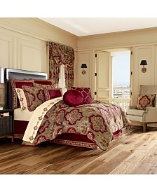 J Queen Maribella Crimson Califronia King Comforter Set