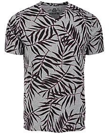 Men's Leaf Lines V-Neck T-Shirt, Created by Macy's