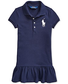 Little Girls Short-Sleeve Big Pony Dress