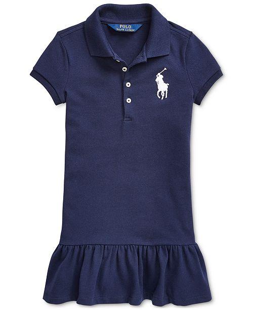 Polo Ralph Lauren Little Girls Short-Sleeve Big Pony Dress