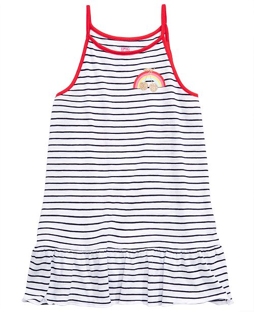 Epic Threads Big Girls Striped Tank Top, Created for Macy's