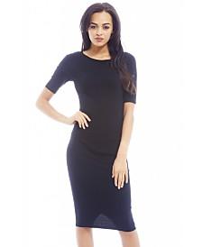 AX Paris Plain Fitted Three Quarter Sleeve Dress
