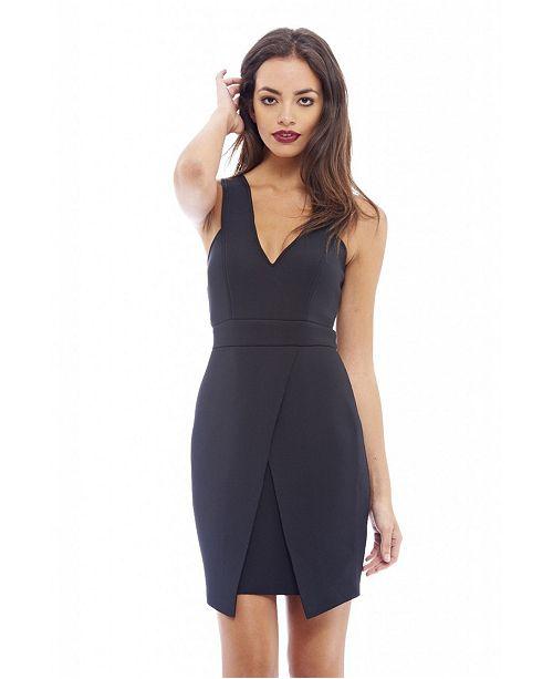 fd17d603996 AX Paris Women s Wrap Front Detail Body Dress   Reviews - Dresses ...