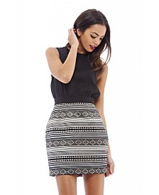 AX Paris Two Tone Aztec Print Dress