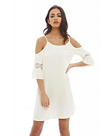 AX Paris Cut Out Shoulder Swing Dress