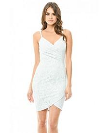 Bodycon Lace Wrap Dress