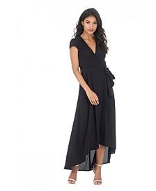AX Paris Capped Sleeve Waterfall Dress