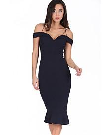 AX Paris Off the Shoulder Strappy Fishtail Dress