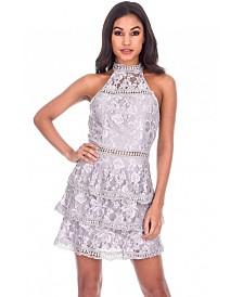 AX Paris Crochet Laye High Neck Dress