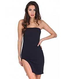 Bandeau Thigh Split Dress