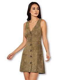 AX Paris Suede Button Front Dress