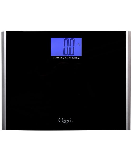 Ozeri Precision Pro II 440 lbs Bath Scale with Weight Change Detection
