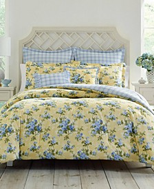 Cassidy Pastel Yellow Comforter Set, Full/Queen