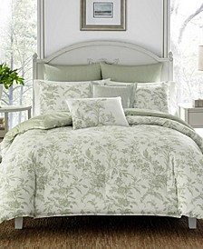 Natalie Sage Duvet Set, Full/Queen