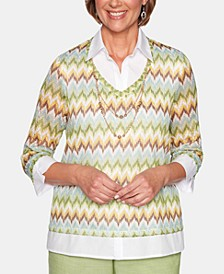Santa Fe Knit Chevron Sweater