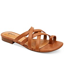 Style & Co Prinslee Flat Sandals, Created for Macy's