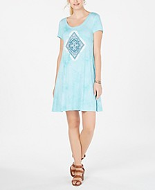 Graphic Scoop-Neck T-Shirt Dress, Created for Macy's