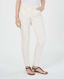 Striped Curvy Skinny-Fit Jeans, Created for Macy's