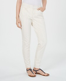 Style & Co Striped Curvy Skinny-Fit Jeans, Created for Macy's