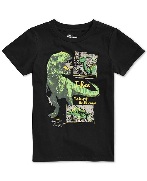 Epic Threads Little Boys T Rex T-Shirt, Created for Macy's