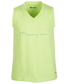 Champion Little Girls Script Logo Tank Top