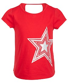 Ideology Little Girls Keyhole Back T-Shirt, Created for Macy's