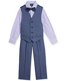 Little Boys 4-Pc. Pin-Dot Vest Set
