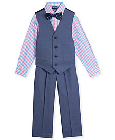 Nautica Little Boys 4-Pc. Pin-Dot Vest Set
