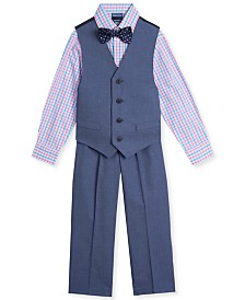 Nautica Toddler Boys 4-Pc. Pin-Dot Vest Set