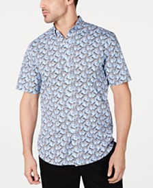Club Room Men's Stretch Zebra-Print Shirt, Created for Macy's