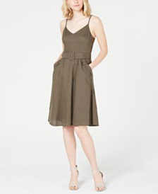 City Studios Juniors' Belted Pocket Dress