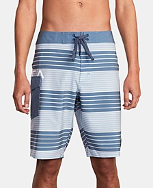 "Men's Uncivil Stripe 20"" Board Shorts"