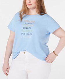 Tommy Hilfiger Plus Size Graphic T-Shirt, Created for Macy's