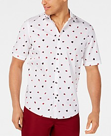 Men's Classic-Fit Fanbrush-Print Shirt, Created for Macy's