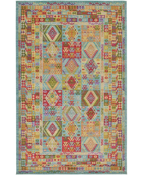 "Bridgeport Home CLOSEOUT! Arcata Arc9 Light Blue 10' 6"" x 16' 5"" Area Rug"