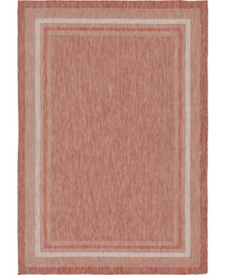 Pashio Pas5 Rust Red 7' x 10' Area Rug