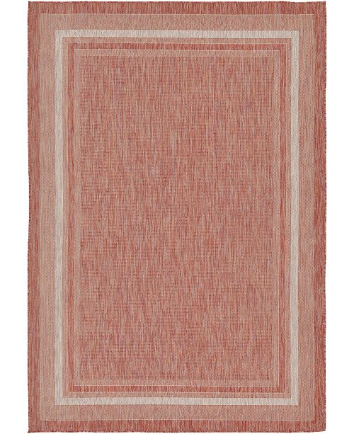 Bridgeport Home Pashio Pas5 Rust Red 7' x 10' Area Rug