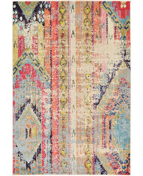 Bridgeport Home CLOSEOUT! Arcata Arc5 Multi 4' x 6' Area Rug