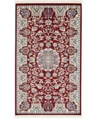 Zara Zar5 Burgundy 3' x 5' Area Rug