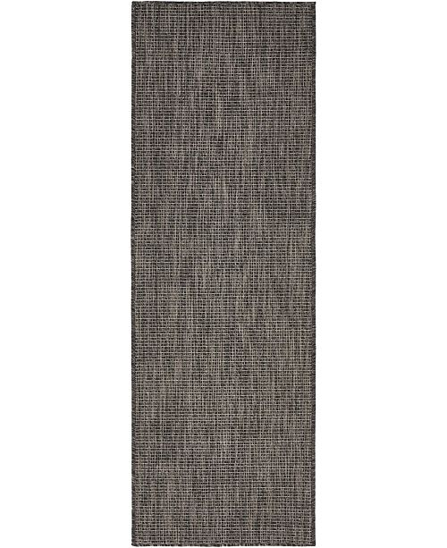 Bridgeport Home Pashio Pas6 Black 2' x 6' Runner Area Rug