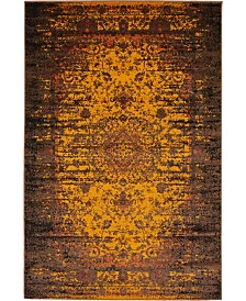 Bridgeport Home Linport Lin4 Orange 4' x 6' Area Rug