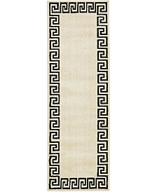 Bridgeport Home Anzu Anz2 Beige/Black 2' x 6' Runner Area Rug