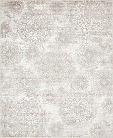 Bridgeport Home Basha Bas7 Light Gray 8' x 10' Area Rug
