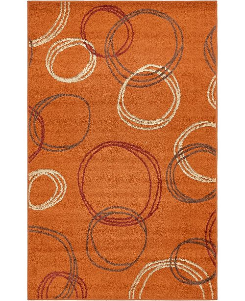 Bridgeport Home Jasia Jas05 Terracotta 5' x 8' Area Rug