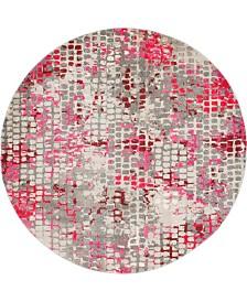 Bridgeport Home Crisanta Crs4 Pink 8' x 8' Round Area Rug