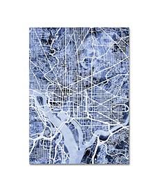 "Michael Tompsett 'Washington DC Street Map B&W' Canvas Art - 18"" x 24"""