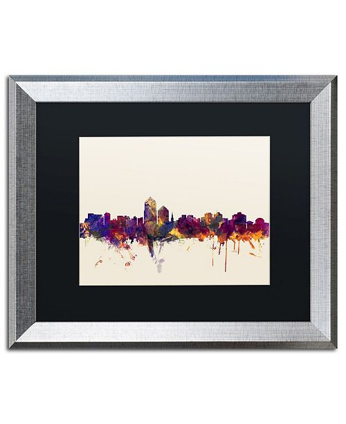 "Trademark Global Michael Tompsett 'Albuquerque New Mexico Skyline' Matted Framed Art - 16"" x 20"""