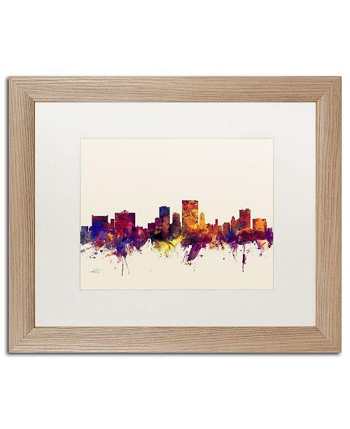"""Trademark Global Michael Tompsett 'El Paso Texas Skyline' Matted Framed Art - 16"""" x 20"""""""