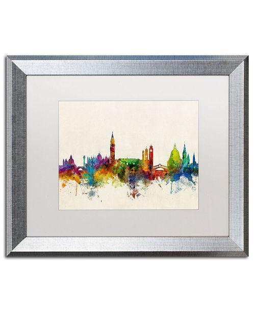 """Trademark Global Michael Tompsett 'Venice Italy Skyline Beige' Matted Framed Art - 16"""" x 20"""""""